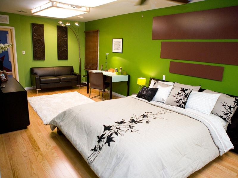 Blues and greens are preferred for areas such as bedrooms