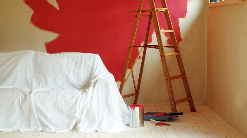 Before painting, protect your furniture