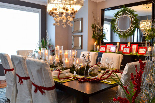 decorate dining room for Christmas