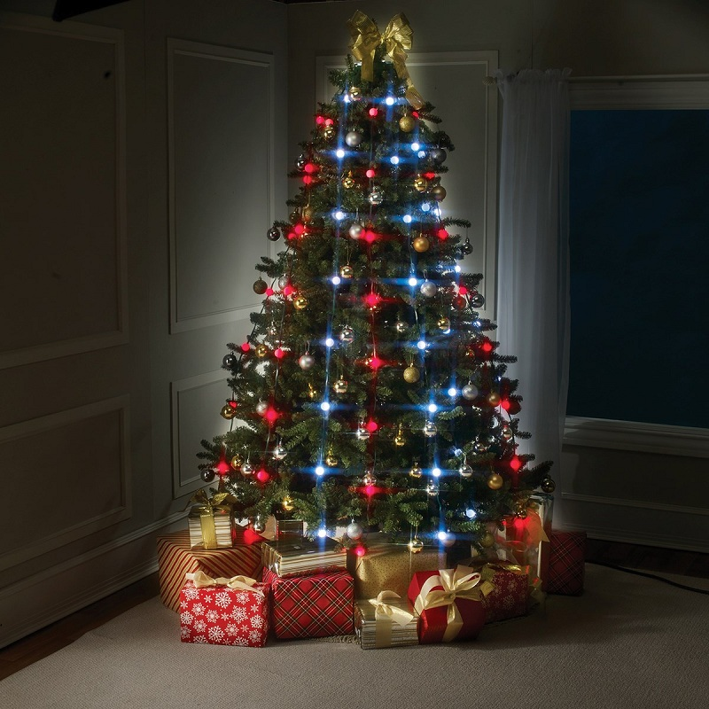 Create your own Christmas tree with lights