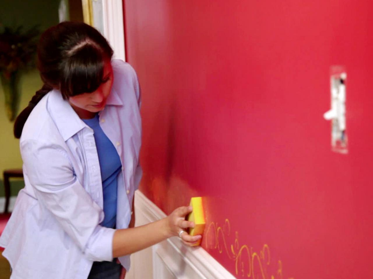 paint over sponged walls