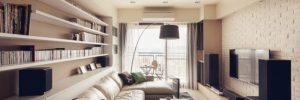 rectangular living room