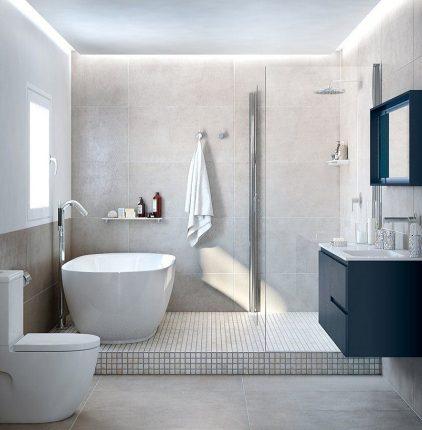 shower and bathtub
